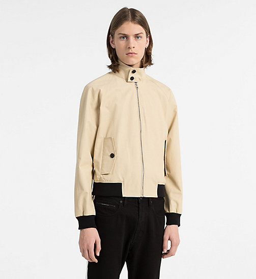 CALVIN KLEIN JEANS Coated Cotton Jacket - SAFARI - CALVIN KLEIN JEANS CLOTHES - main image
