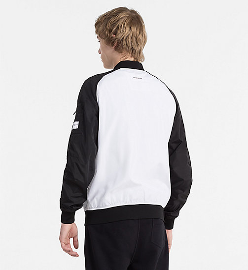CALVIN KLEIN JEANS Nylon Bomber Jacket - BRIGHT WHITE / CK BLACK - CALVIN KLEIN JEANS NEW IN - detail image 1