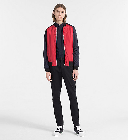 CALVIN KLEIN JEANS Nylon Bomber Jacket - TANGO RED -  NEW IN - detail image 1