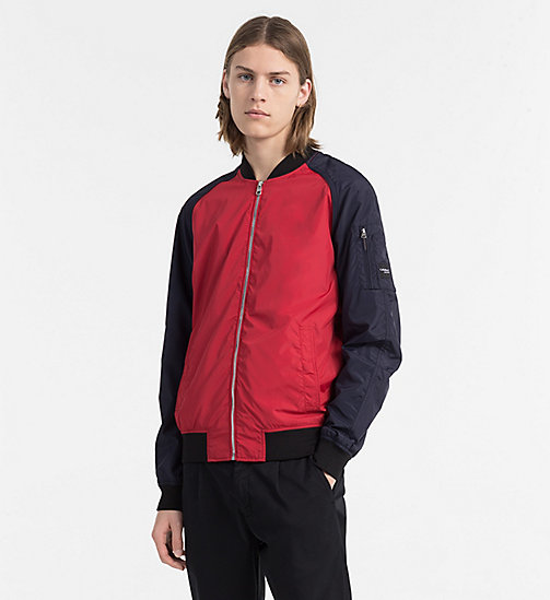 CALVIN KLEIN JEANS Nylon Bomber Jacket - TANGO RED -  NEW IN - main image