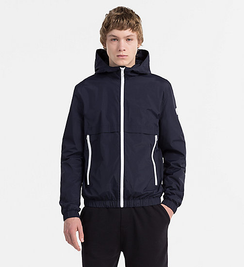 CALVIN KLEIN JEANS Nylon Hooded Jacket - NIGHT SKY - CALVIN KLEIN JEANS CLOTHES - main image