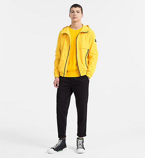 CALVIN KLEIN JEANS Nylon Hooded Jacket - SPECTRA YELLOW - CALVIN KLEIN JEANS NEW IN - detail image 1