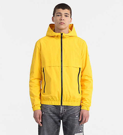 CALVIN KLEIN JEANS Nylon Hooded Jacket - SPECTRA YELLOW - CALVIN KLEIN JEANS CLOTHES - main image