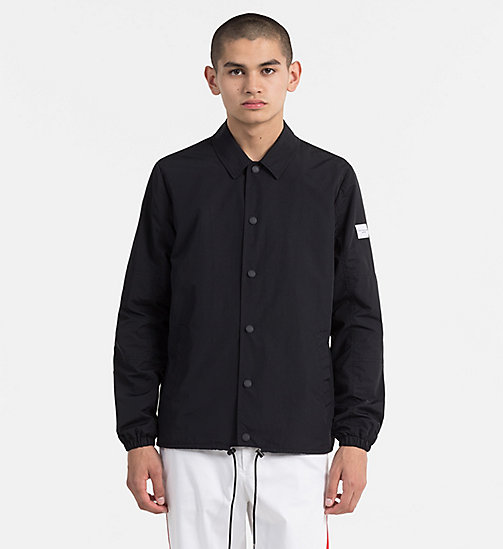CALVIN KLEIN JEANS Nylon Coach Jacket - CK BLACK - CALVIN KLEIN JEANS NEW IN - main image