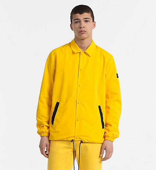 CALVIN KLEIN JEANS Nylon Coach Jacket - SPECTRA YELLOW - CALVIN KLEIN JEANS NEW IN - main image