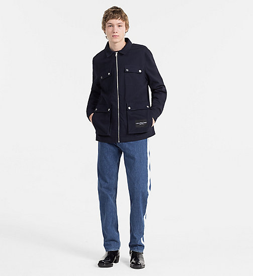 CALVIN KLEIN JEANS Cotton Twill Field Jacket - NIGHT SKY - CALVIN KLEIN JEANS CLOTHES - detail image 1