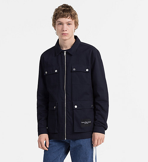 CALVIN KLEIN JEANS Cotton Twill Field Jacket - NIGHT SKY - CALVIN KLEIN JEANS CLOTHES - main image