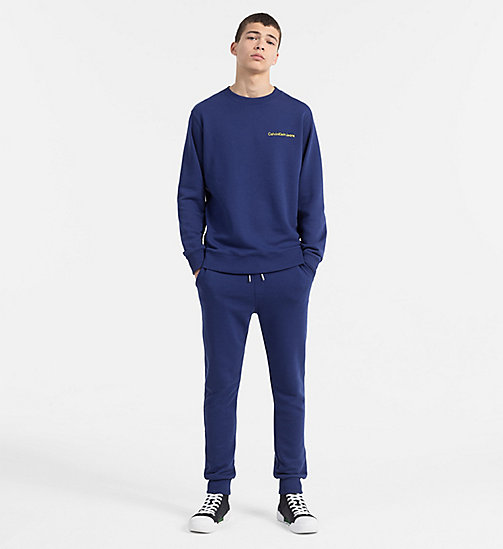 CALVIN KLEIN JEANS Embroidered Logo Sweatshirt - BLUE DEPTHS - CALVIN KLEIN JEANS CLOTHES - detail image 1