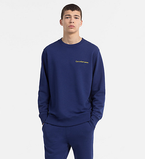 CALVIN KLEIN JEANS Embroidered Logo Sweatshirt - BLUE DEPTHS - CALVIN KLEIN JEANS NEW IN - main image