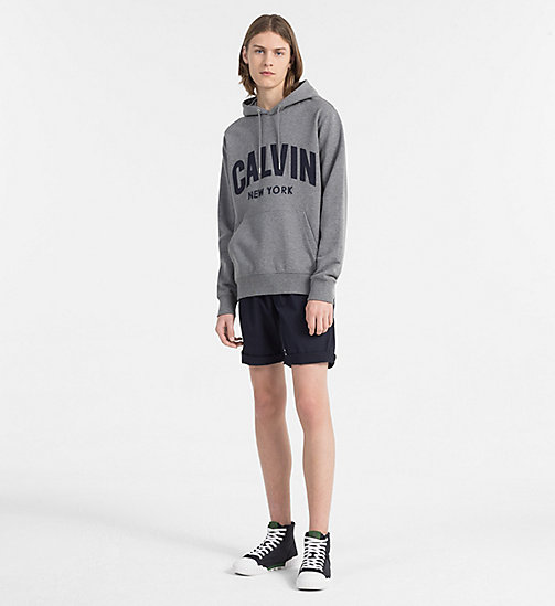 CALVIN KLEIN JEANS Appliquéd Logo Hoodie - MID GREY HEATHER - CALVIN KLEIN JEANS NEW IN - detail image 1