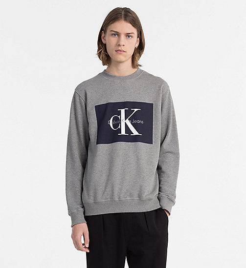 CALVIN KLEIN JEANS Sweat-shirt avec logo - LIGHT GREY HEATHER - CALVIN KLEIN JEANS LOGO SHOP - image principale