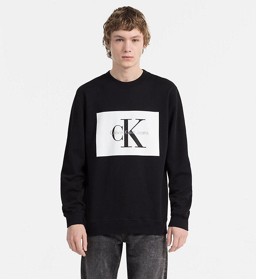 CALVIN KLEIN JEANS Logo Sweatshirt - LIGHT GREY HEATHER - CALVIN KLEIN JEANS MEN - main image