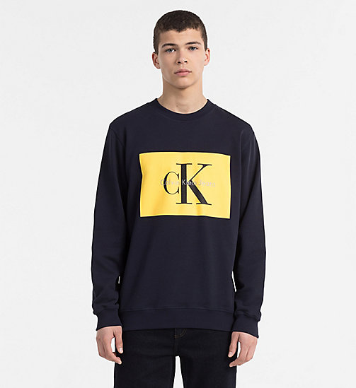 CALVIN KLEIN JEANS Logo Sweatshirt - NIGHT SKY - CALVIN KLEIN JEANS NEW IN - main image
