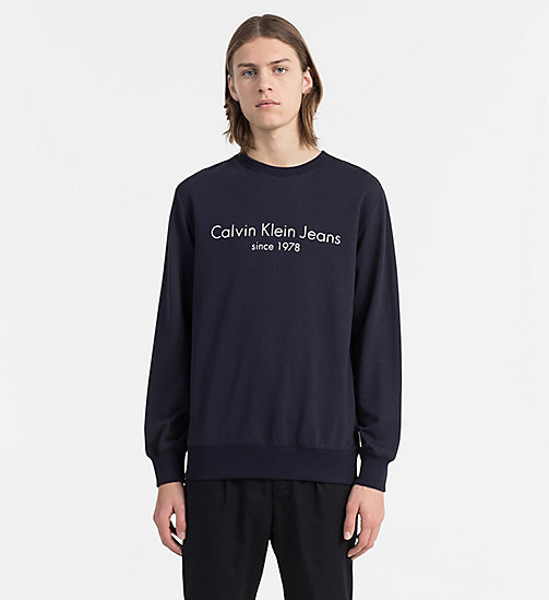 CALVIN KLEIN JEANS Logo Sweatshirt - NIGHT SKY -  LOGO SHOP - main image