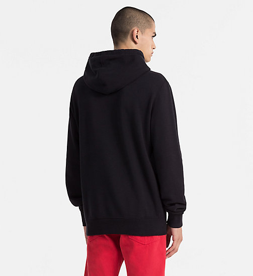 CALVIN KLEIN JEANS Cotton Terry Hoodie - CK BLACK - CALVIN KLEIN JEANS TRUE COLOURS - detail image 1