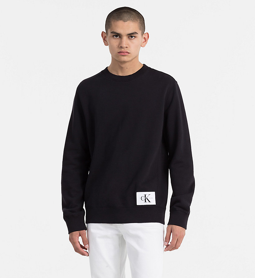 CALVIN KLEIN JEANS Cotton Terry Sweatshirt - SAFARI - CALVIN KLEIN JEANS MEN - main image