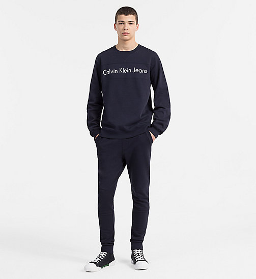 CALVIN KLEIN JEANS Two-Tone Logo Sweatshirt - NIGHT SKY - CALVIN KLEIN JEANS CLOTHES - detail image 1