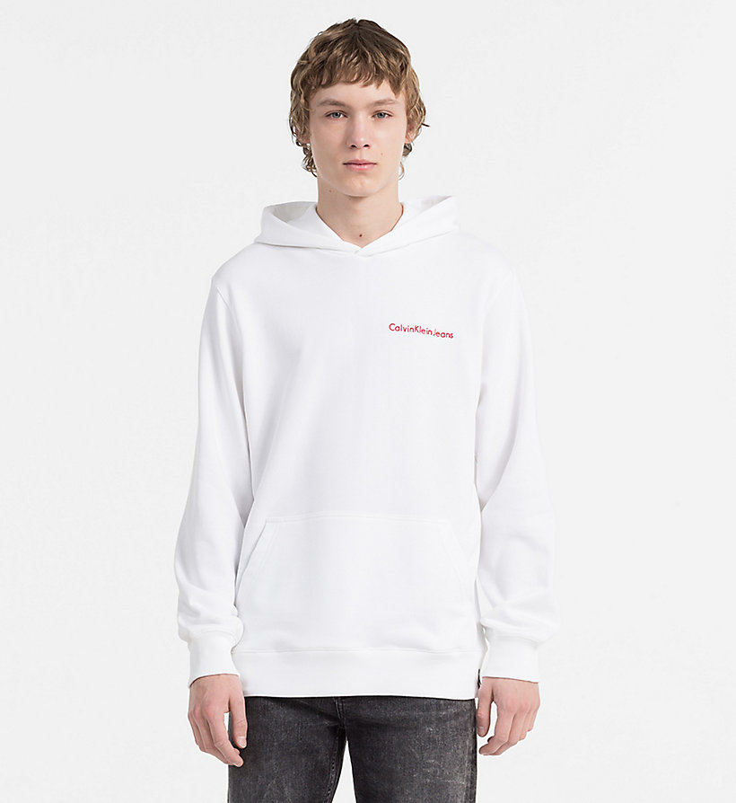 CALVIN KLEIN JEANS Embroidered Logo Hoodie - SPECTRA YELLOW - CALVIN KLEIN JEANS MEN - main image