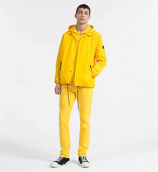 CALVIN KLEIN JEANS Embroidered Logo Hoodie - SPECTRA YELLOW - CALVIN KLEIN JEANS CLOTHES - detail image 1