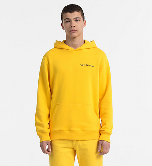 CALVIN KLEIN JEANS Embroidered Logo Hoodie - SPECTRA YELLOW - CALVIN KLEIN JEANS CLOTHES - main image