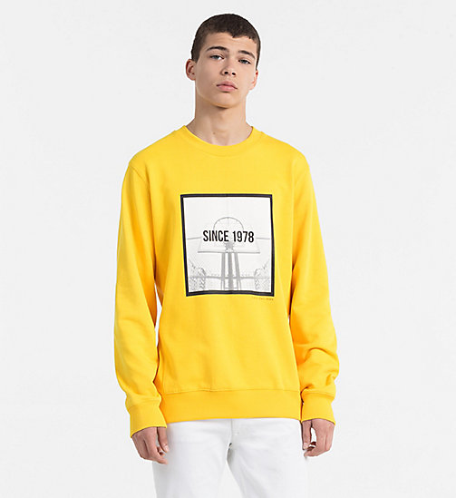CALVIN KLEIN JEANS Printed Sweatshirt - SPECTRA YELLOW - CALVIN KLEIN JEANS CLOTHES - main image