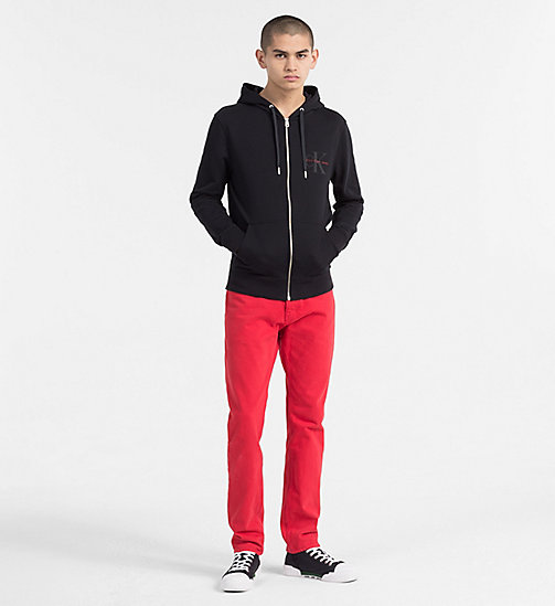 CALVIN KLEIN JEANS Zip-Through Logo Hoodie - CK BLACK - CALVIN KLEIN JEANS NEW IN - detail image 1