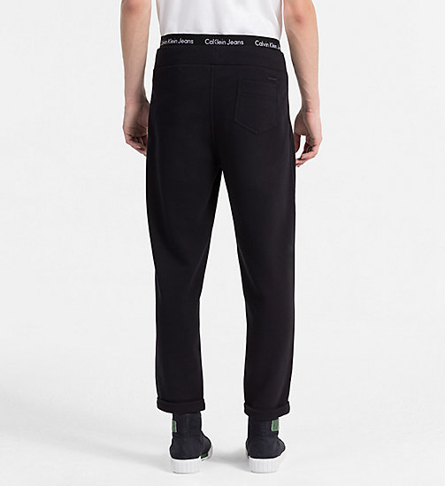 CALVIN KLEIN JEANS French Terry Jogging Pants - CK BLACK - CALVIN KLEIN JEANS CLOTHES - detail image 1