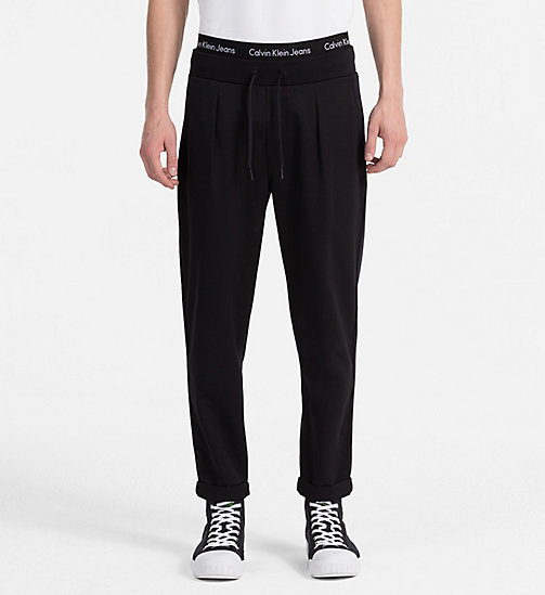 CALVIN KLEIN JEANS Slim French Terry Sweatpants - CK BLACK - CALVIN KLEIN JEANS CLOTHES - main image