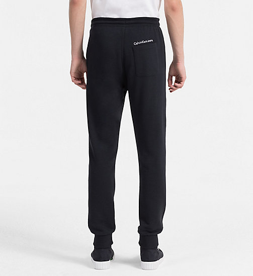 CALVIN KLEIN JEANS Slim Cotton Blend Sweatpants - CK BLACK - CALVIN KLEIN JEANS CLOTHES - detail image 1