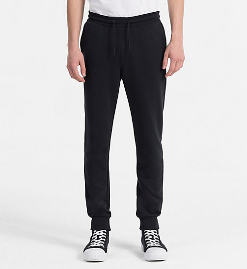 CALVIN KLEIN JEANS Slim Cotton Blend Sweatpants - CK BLACK - CALVIN KLEIN JEANS CLOTHES - main image