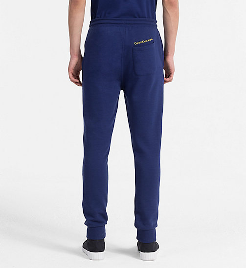 CALVIN KLEIN JEANS Slim Cotton Blend Sweatpants - BLUE DEPTHS - CALVIN KLEIN JEANS CLOTHES - detail image 1