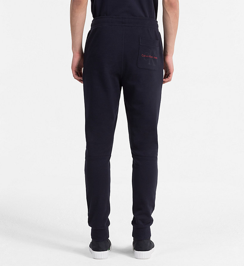 CALVIN KLEIN JEANS Slim Cotton Terry Sweatpants - MID GREY HEATHER - CALVIN KLEIN JEANS MEN - detail image 1