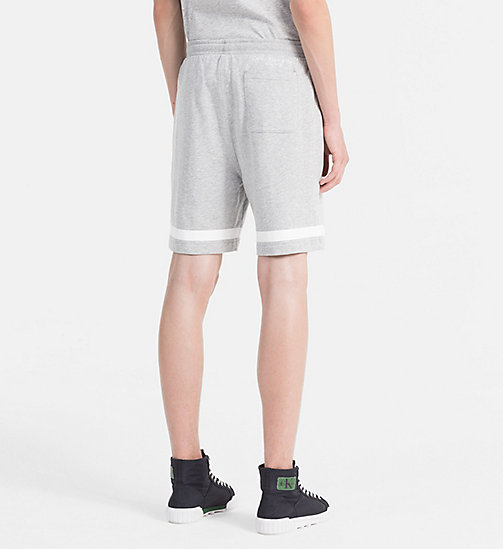 CALVIN KLEIN JEANS Cotton Terry Sweatshorts - LIGHT GREY HEATHER - CALVIN KLEIN JEANS HEAT WAVE - detail image 1