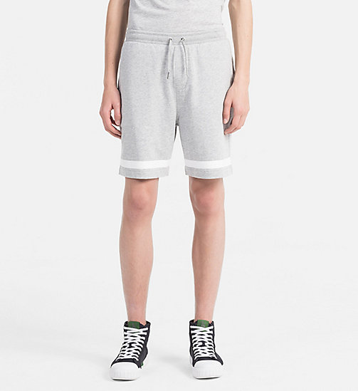 CALVIN KLEIN JEANS Sweat-Shorts aus Baumwoll-Frottee - LIGHT GREY HEATHER -  HEAT WAVE - main image
