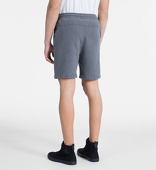 CALVIN KLEIN JEANS Slim Cotton Terry Sweatshorts - MID GREY HEATHER - CALVIN KLEIN JEANS CLOTHES - detail image 1