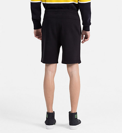 CALVIN KLEIN JEANS Slim Cotton Terry Sweatshorts - CK BLACK - CALVIN KLEIN JEANS CLOTHES - detail image 1