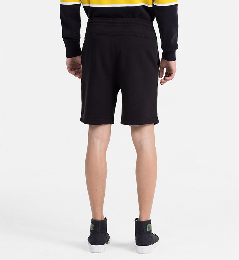 CALVIN KLEIN JEANS Slim Cotton Terry Sweatshorts - SAFARI - CALVIN KLEIN JEANS MEN - detail image 1