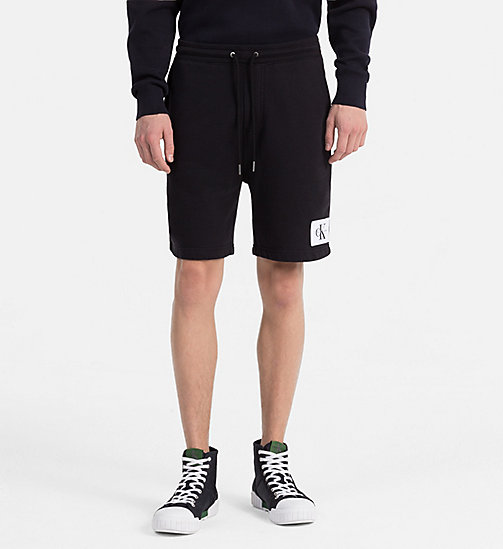 CALVIN KLEIN JEANS Slim Cotton Terry Sweatshorts - CK BLACK - CALVIN KLEIN JEANS CLOTHES - main image