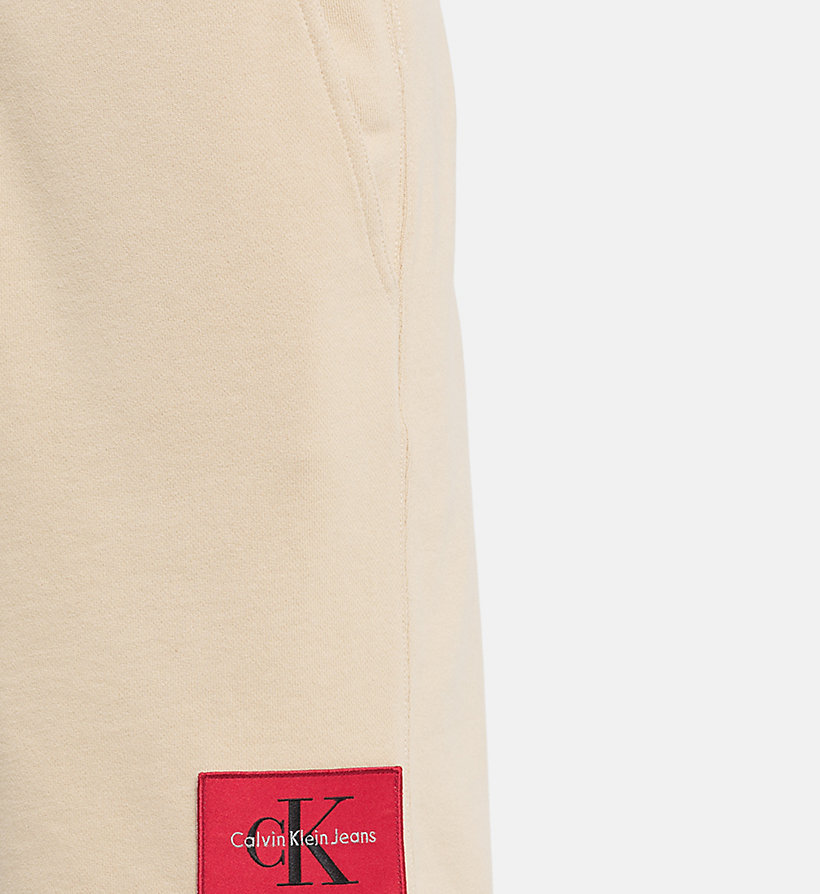 CALVIN KLEIN JEANS Cotton Terry Sweatshorts - MID GREY HEATHER - CALVIN KLEIN JEANS MEN - detail image 2