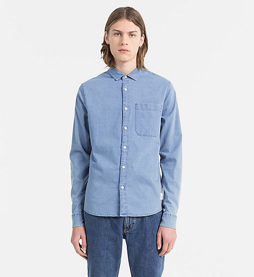 CALVIN KLEIN JEANS Slim Chambray Shirt - LIGHT INDIGO - CALVIN KLEIN JEANS BLUES MASTER - main image