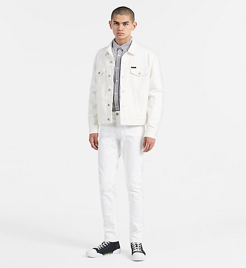 CALVIN KLEIN JEANS Regular Stripe Shirt - BRIGHT WHITE / CK BLACK - CALVIN KLEIN JEANS NEW IN - detail image 1