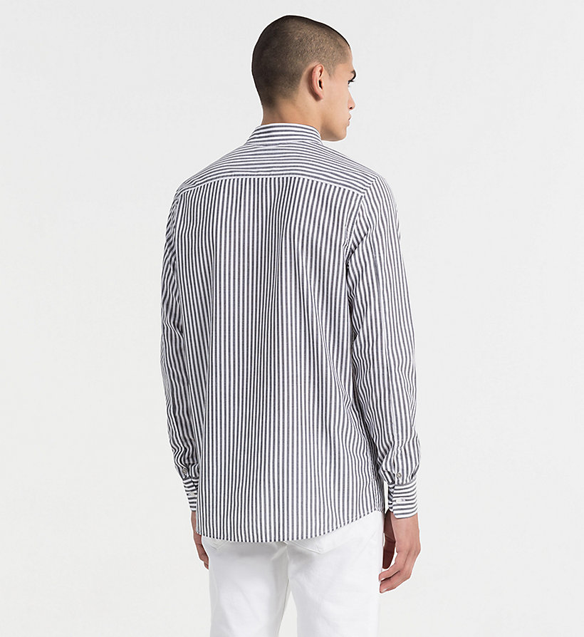 CALVIN KLEIN JEANS Regular Stripe Shirt - BRIGHT WHITE / SPECTRA YELLOW - CALVIN KLEIN JEANS MEN - detail image 2
