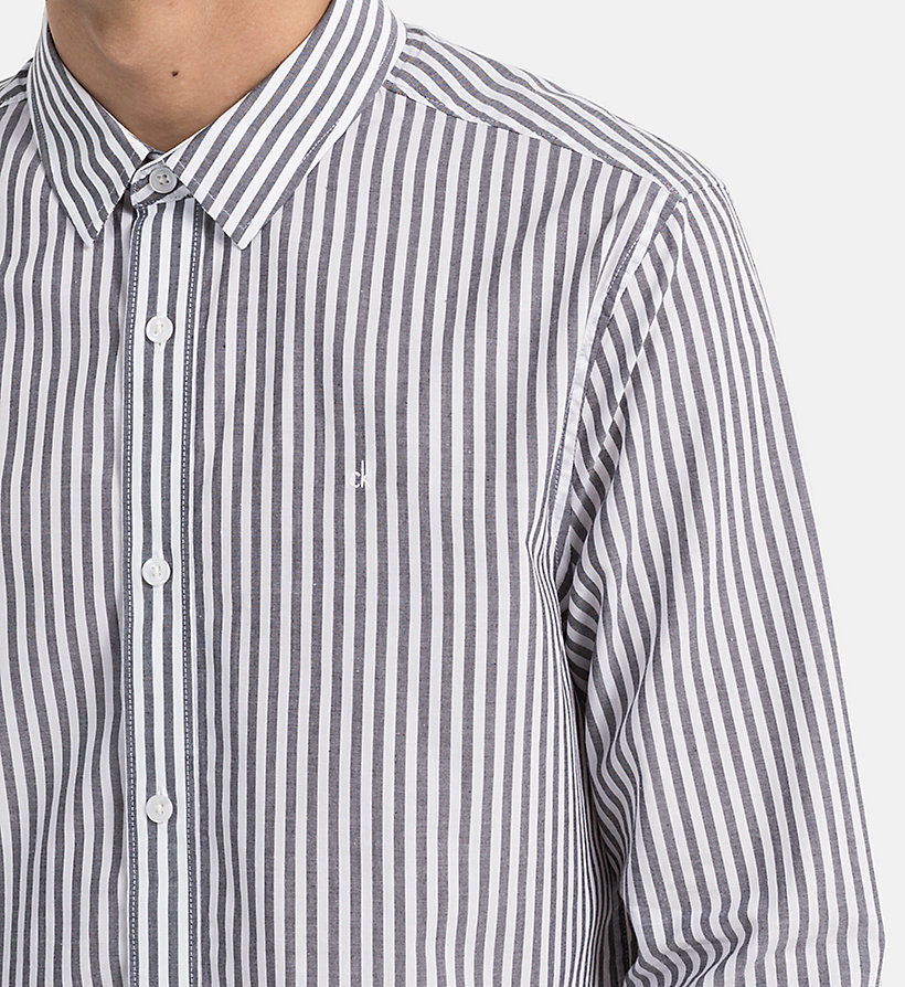 CALVIN KLEIN JEANS Regular Stripe Shirt - BRIGHT WHITE / SPECTRA YELLOW - CALVIN KLEIN JEANS MEN - detail image 3