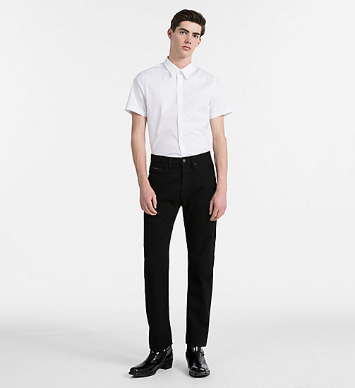 CALVIN KLEIN JEANS Slim Poplin Short-Sleeve Shirt - BRIGHT WHITE - CALVIN KLEIN JEANS NEW IN - detail image 1