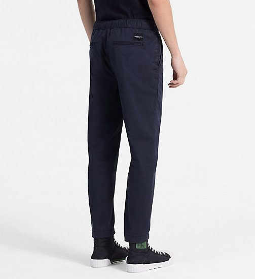 CALVIN KLEIN JEANS Jogger Chino Trousers - NIGHT SKY - CALVIN KLEIN JEANS CLOTHES - detail image 1