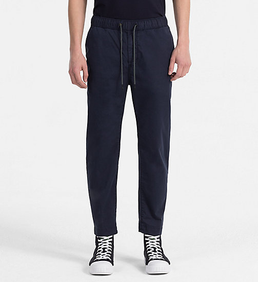 CALVIN KLEIN JEANS Jogger Chino Trousers - NIGHT SKY - CALVIN KLEIN JEANS CLOTHES - main image