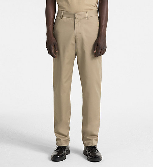 CALVIN KLEIN JEANS Straight Chino Trousers - CORIANDER - CALVIN KLEIN JEANS TRUE COLOURS - main image