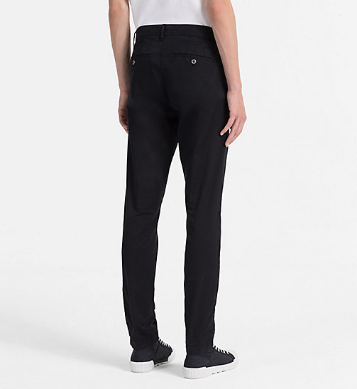 CALVIN KLEIN JEANS Regular Chino Trousers - CK BLACK - CALVIN KLEIN JEANS NEW IN - detail image 1