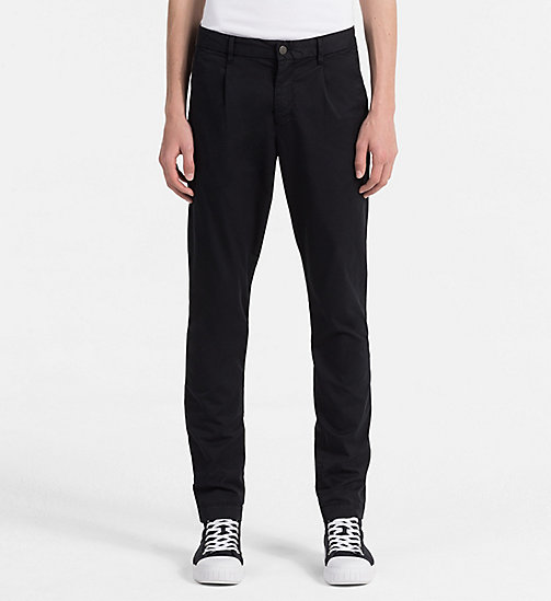 CALVIN KLEIN JEANS Regular Chino Trousers - CK BLACK - CALVIN KLEIN JEANS NEW IN - main image