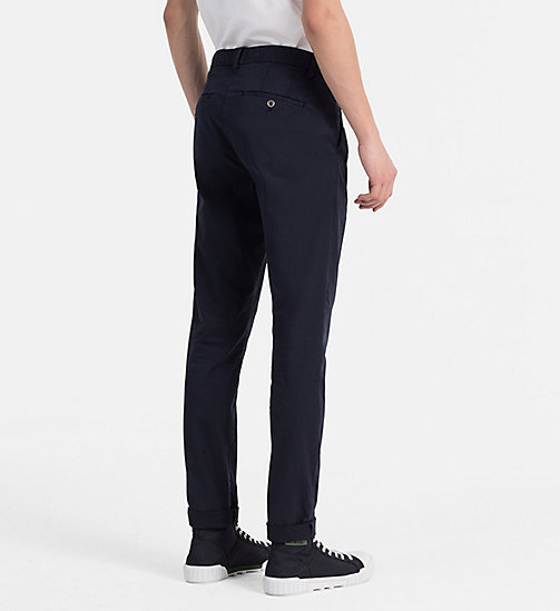 CALVIN KLEIN JEANS Regular Chino Trousers - NIGHT SKY - CALVIN KLEIN JEANS NEW IN - detail image 1